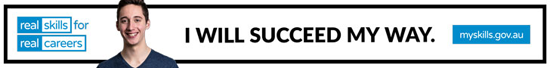 banner image with person saying I will success