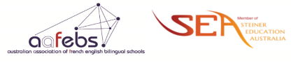 Australian Association of French English Bilingual schools and SEA logos